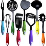 Kitchen Utensils Cooking Set by Chefcoo Includes 8 Pieces Non-stick Cookware Gadgets - Masher, Spag