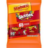Wrigleys Assorted SKITTLES & STARBURST Candy Fun Size Variety Mix 31.9-Ounce Bag