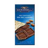 Ghirardelli Chocolate Gourmet Milk Bar, Sea Salt & Almonds Milk Chocolate, 3.5-Ounce Bars