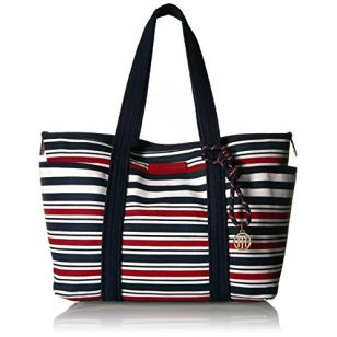 Tommy Hilfiger Tote Bag for Women Dariana, Navy / Red