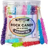 Extra Large Rock Candy Sticks - Candy Buffet - 36 Espeez Assorted Sticks - For Birthdays, Weddings, Receptions, Bridal and Baby Showers