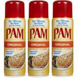 Pam Original Cooking Spray, 6 oz, 3 ct (Quantity of 3)