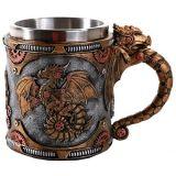 Pacific Giftware Steampunk Mechanical Gearwork Dragon Beer Stein Tankard Decor Gift 13oz