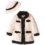 Widgeon Little Girls Contrast Trim Coat with Sequins
