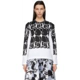 Comme des Garcons White & Black Teddy Print Layered Long Sleeve T-Shirt