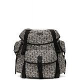 Kenzo White & Black Jacquard Trek Backpack