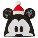 Disney Mickey Mouse Light-Up Knit Holiday Ear Hat for Adults