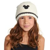 Disney Mickey Mouse Beanie for Kids by Barefoot Dreams - Cream