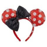 Disney Minnie Mouse Sequined Ears Headband for Adults - Polka Dot