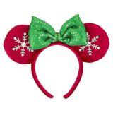 Disney Minnie Mouse Snowflake Ears Headband for Adults