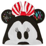 Disney Minnie Mouse Light-Up Knit Holiday Ear Hat for Adults