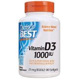 Doctors Best Best Vitamin D3 1000 IU, Softgel Capsules, 180-Count