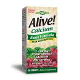 Natures Way Alive! Calcium Bone Formula Supplement (1,000mg per serving), 60 Tablets (Packaging May Vary)
