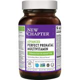 New Chapter Advanced Perfect Prenatal Vitamins - 48ct, Organic, Non-GMO Ingredients for Healthy Baby & Mom - Folate (Methylfolate), Iron, Vitamin D3, Fermented with Whole Foods and