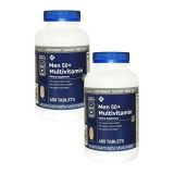 Men 50+ Multivitamin Dietary Supplement, Heart, Immune and Eye Support, Compatible with Members Mark, 400 Count (2 Pack)