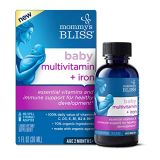 Mommys Bliss Baby Multivitamin + Iron, Daily Essential Vitamins for Immune Support, Healthy Growth & Bone Development, Age 2 Months+, 30 ML (30 Servings)
