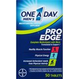 One A Day Men's Pro Edge Multivitamin, Supplement with Vitamin A, Vitamin C, Vitamin D, Vitamin E and Zinc for Immune Health Support* and Magnesium for Healthy Muscle Function, 50
