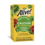 Natures Way Alive! Calcium Bone Formula Supplement (1300 mg per serving), 120 Tablets