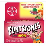 Flintstones Childrens Multivitamin Supplement with Iron Chewable Tablets, 60 Each (Pack of 2) by Flintstones Vitamins