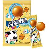 小巴 Alps 20 sticks lollipop milk flavor snack snack 200g (20 sticks) candy original flavor lollipop (7oz.)阿卑斯棒棒糖