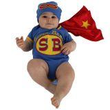 Sozo Baby-Boys Newborn Super Baby Bodysuit and Cap Set