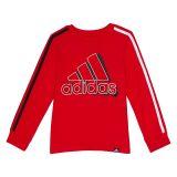 Adidas Kids Split 3-Stripes Long Sleeve Tee (Toddler/Little Kids)