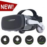 By VR SHINECON [ 2019 New Version ]VR Headset,Virtual Reality Headset,VR SHINECON VR Goggles for TV, Movies & Video Games - 3D VR Glasses for Iphone, Android and Other Phones Within 4.7-6.0 inch