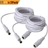 SIOCEN 5.5mm x 2.1mm Extension Cord 13FT, DC 12v Power Supply Adapter for CCTV Security Camera Surveillance Indoor Wireless IP Camera Dvr Standalone LED Strip, Car, 12 Volt Male to Female