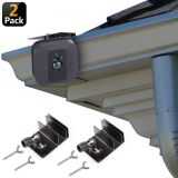 Alertcam [Upgraded Version] Gutter Mount for Blink XT & Blink XT2 Outdoor Camera, Best Viewing Angle for Your Blink XT Camera, Weatherproof Aluminum Alloy Material (2 Pack, Black)