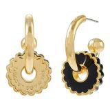 Marc Jacobs The Medallion Hoop Earrings