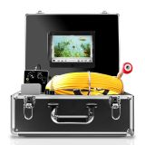 Pipe Inspection Camera,IHBUDS Pipeline Drain Sewer Industrial Endoscope, PC30M Waterproof IP68 30M/100ft Snake Video System with 7 Inch LCD Monitor 1000TVL Sony CCD DVR Recorder (8