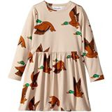 Mini rodini Ducks All Over Print Long Sleeve Dress (Infant/Toddler/Little Kids/Big Kids)