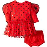 Stella McCartney Kids Mouse Polka Dot Detachable Wings One-Piece (Infant)