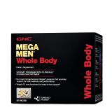 GNC Mega Men Whole Body Vitapak, 30 Packs, Supports Wellness and Performance