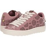 COACH C101 Low Top Sneaker with Cut Out Tea Rose - Leather