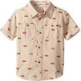 Hatley Kids Tiny Canoes Short Sleeve Button Down Shirt (Toddler/Little Kids/Big Kids)