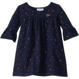 Fleece All Over Print Multicolor Dots Dress (Toddler/Little Kids/Big Kids)