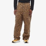 Relax Fit Leopard Contrast Cuff Pants