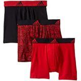 Adidas Kids Sport Performance Climalite Graphic 3-Pack Boxer Brief (Big Kids)