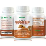 MLabs Pure Turmeric Anti-Inflammatory formula for Gout, Painful Joints and Rheumatoid Arthritis, 60 Capsules