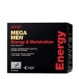 GNC Mega Men Energy & Metabolism Vitapak (California Only), 30 Packs, Promotes Energy, Heart Health and Sexual Health