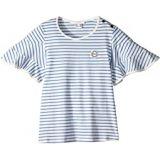 Chloe Kids Ruffled Sleeve Striped T-Shirt (Big Kids)