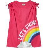 Rainbow Shine Cinched Shoulder Tee (Toddler/Little Kids/Big Kids)