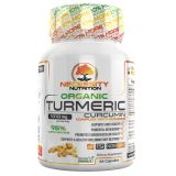 Necessity Nutrition Organic Turmeric Curcumin With Bioperine Capsules 1,000 Milligram 66 Pills Black Pepper Extract Joint Supplements For Women and Men Potent Pain Relief Anti Inflammatory Supplement