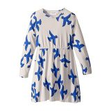 Mini rodini Flying Birds Long Sleeve Dress (Infant/Toddler/Little Kids/Big Kids)