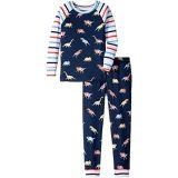 Hatley Kids Glowing Fossils Organic Cotton Raglan Pajama Set (Toddler/Little Kids/Big Kids)