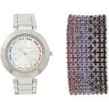 Watch and Multi Row Bracelet Set SMWS039