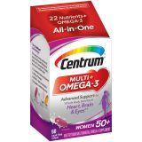 Centrum Multi + Omega-3 (60 Count, 2 Month Supply) Adult Multivitamin and Omega-3 Supplement for...