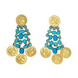 Tory Burch Articulated Coin Earrings
