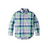 Polo Ralph Lauren Kids Plaid Cotton Poplin Shirt (Toddler)